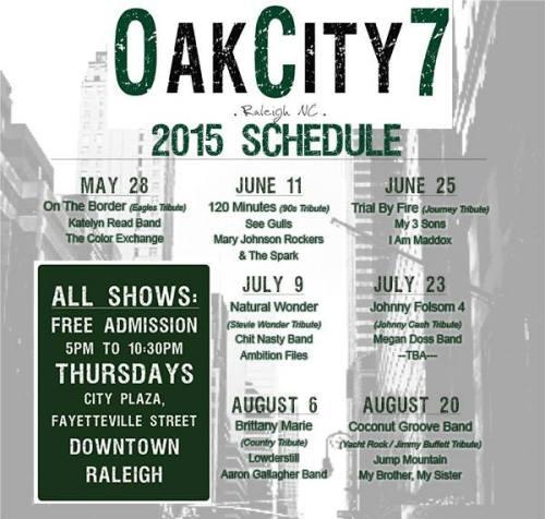 Oak 7 Schedule