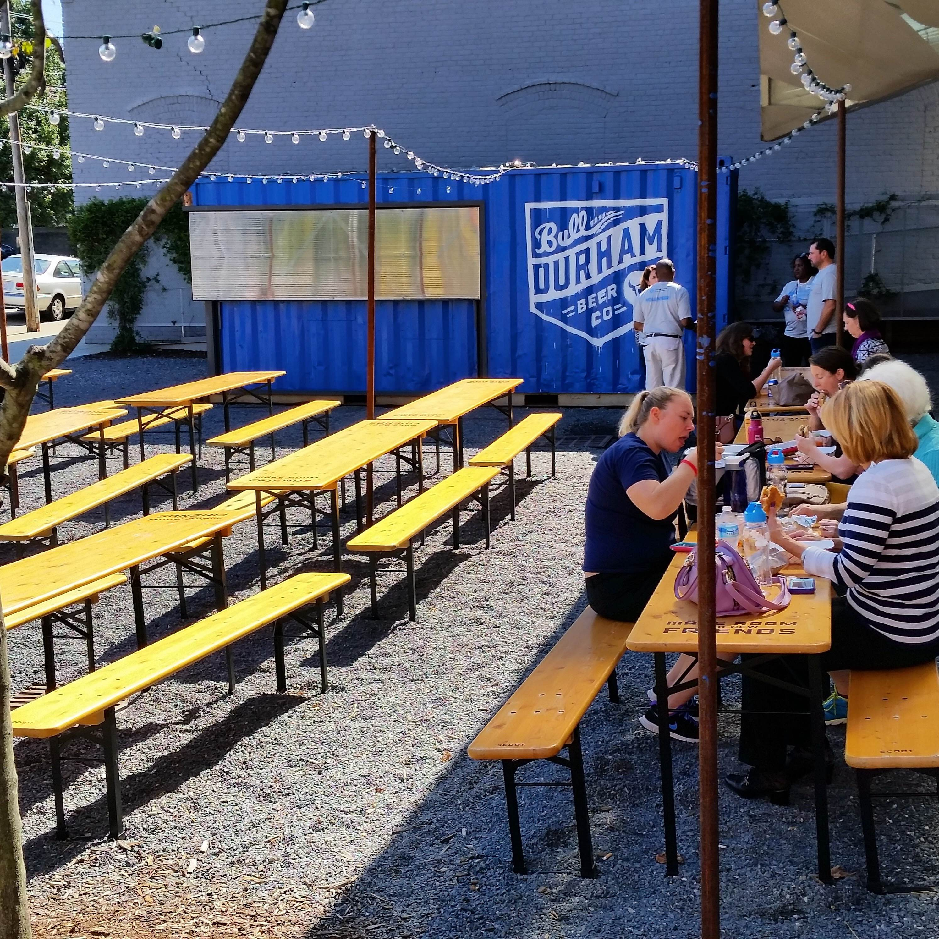 this past week i learned it has been reincarnated as the bull durham beer company beer garden - Raleigh Beer Garden