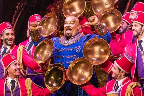 S2 Friend Like Me 2. Korie Lee Blossey (Genie) & Ensemble. Aladdin North American Tour. Photo by Deen van Meer.jpg