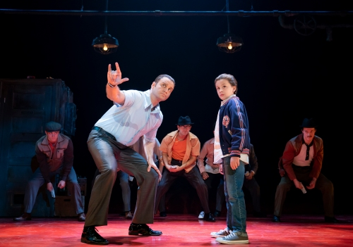 g. Jeff Brooks as Sonny, Trey Murphy as Young C and the Cast of A BRONX TALE. Photo by Joan Marcus